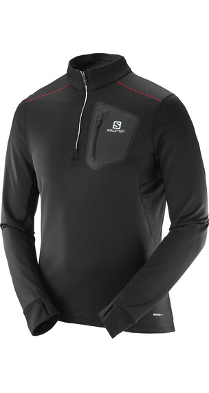 Salomon Trail Runner Warm Mid sweater Heren zwart